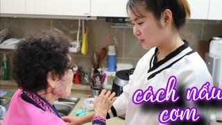 [Hàn Quốc] Nội chồng dạy cháu NẤU CƠM, NẤU CANH đơn giản (Tại sao cơm lại có màu tím?)