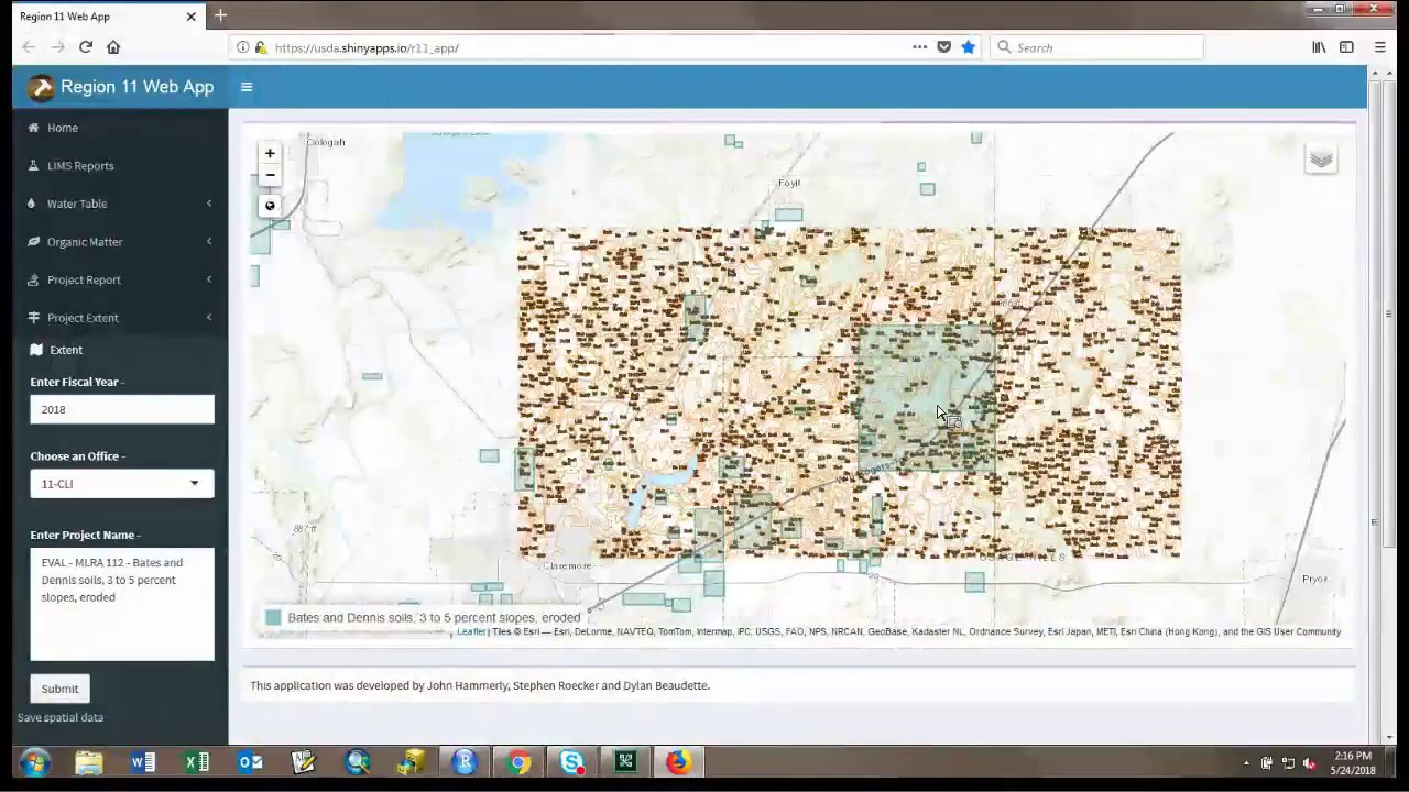 Webinar - Using R Powered Shiny Apps to Accelerate Soil Data Analysis  (5/2018)