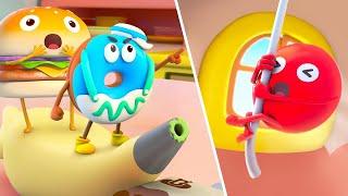 ちからをあわせてともだちをたすけよう★ドーナツのチャレンジ第3話 | 赤ちゃんが喜ぶアニメ | 動画 | ベビーバス| BabyBus