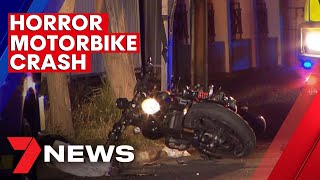 Young men fighting for life after horror high-speed motorcycle crash in Adelaide | 7NEWS