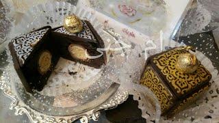 """""""وصفات جزائرية"""" حلوة الصندوق العجيب بلمسته الذهبية بمول ارابيسك الشكولاطة مع ام جنى"""