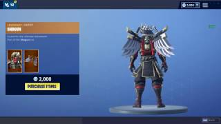 'NEW' SHOGUN SKIN! (Fortnite Item Shop 17 Novembre)
