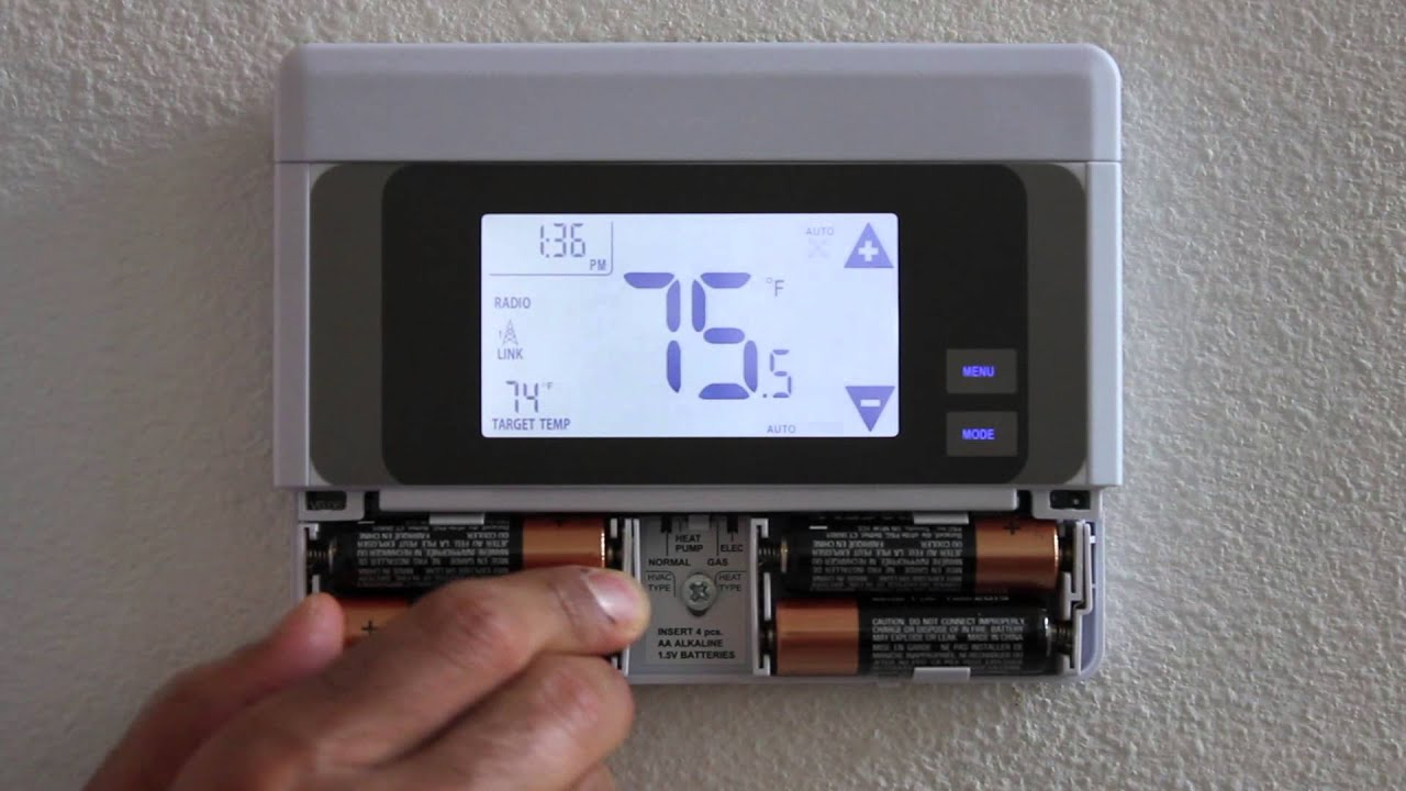 Changing Your Thermostat Battery