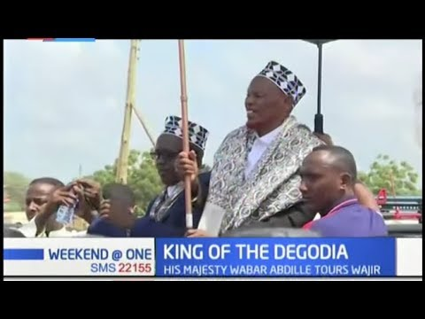 King of Degodia community His Majesty Wabar Abdille tours Wajir County, calls for peace and unity