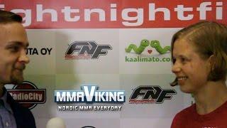 Minna Grusander Post Fight FNF 10 Interview