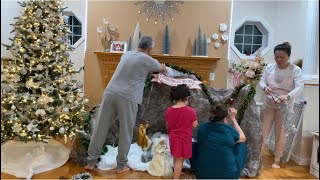 BTB 268:: Cả nhà hì hục hơn nữa ngày để làm cho xong cây Noel và Hang Đá