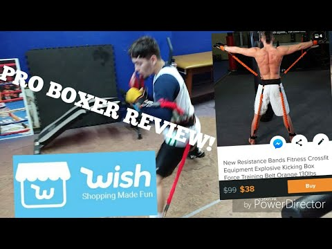 WISH REVIEW BY PRO BOXER! RESISTANCE BANDS CROSSFIT BOXING KICKBOXING FORCE TRAINING BELT
