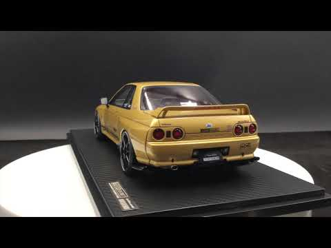 Ignition Model 1:18 TOP SECRET GT-R (VR32) Gold resin model (IG1523)available now