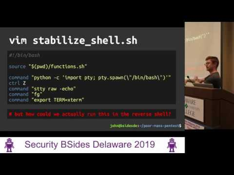 A Poor Man's Pentest: Automating The Manual - BsidesDE 2019