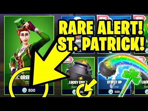 Fortnite *RARE* ITEM SHOP ALERT - SGT. GREEN CLOVER & *NEW* LUCKY RIDER (Fortnite St Patrick's Day)