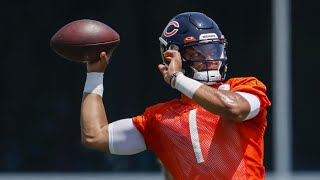 Justin Fields has signed his rookie deal and the Chicago Bears offense continues growing