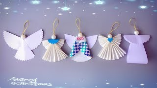 ABC TV   5 Tips   How To Make Angel Christmas Ornaments From Paper - Craft Tutorial