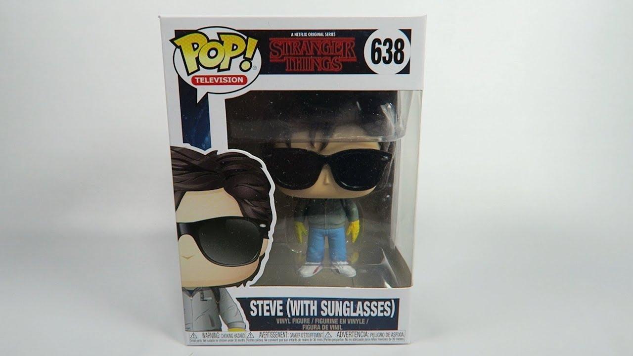 7d43bf134c Funko Pop Vinyl Stranger Things Steve with Sunglasses Unboxing - YouTube