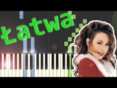 🎹 All I want for Christmas (M. Carey) - Piano Tutorial (łatwa wersja) (EASY) 🎹