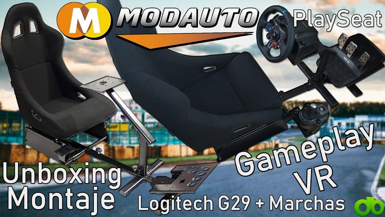 Playseat Asiento Estructura Volante Pedales Marchas Modauto-tuning com  Montaje Gameplay Logitech G29