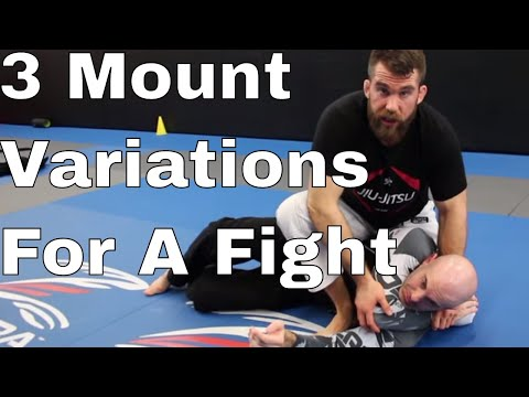 3 BJJ Mount Positions For Self Defense / Fight (Advantage of High Mounts)