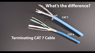 Cat 6 Vs Cat 7 What Is The Difference Youtube