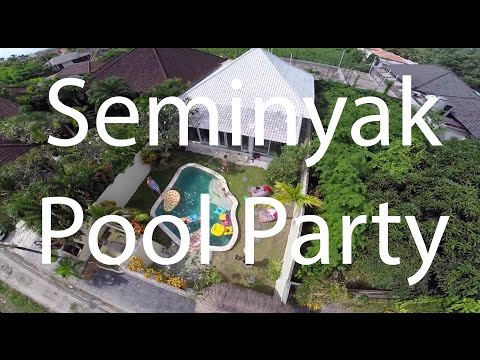 Bali Villa Pool Party in Seminyak Kuta Indonesia