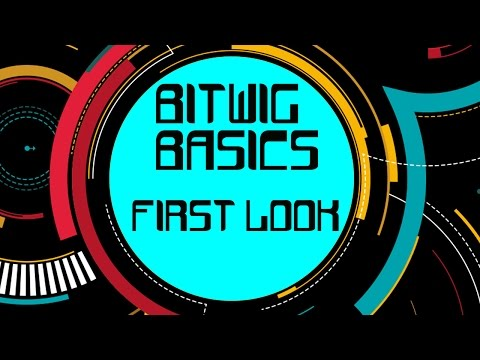 What you're looking at when you first open BitWig 2 - Bitwig 2 Basics