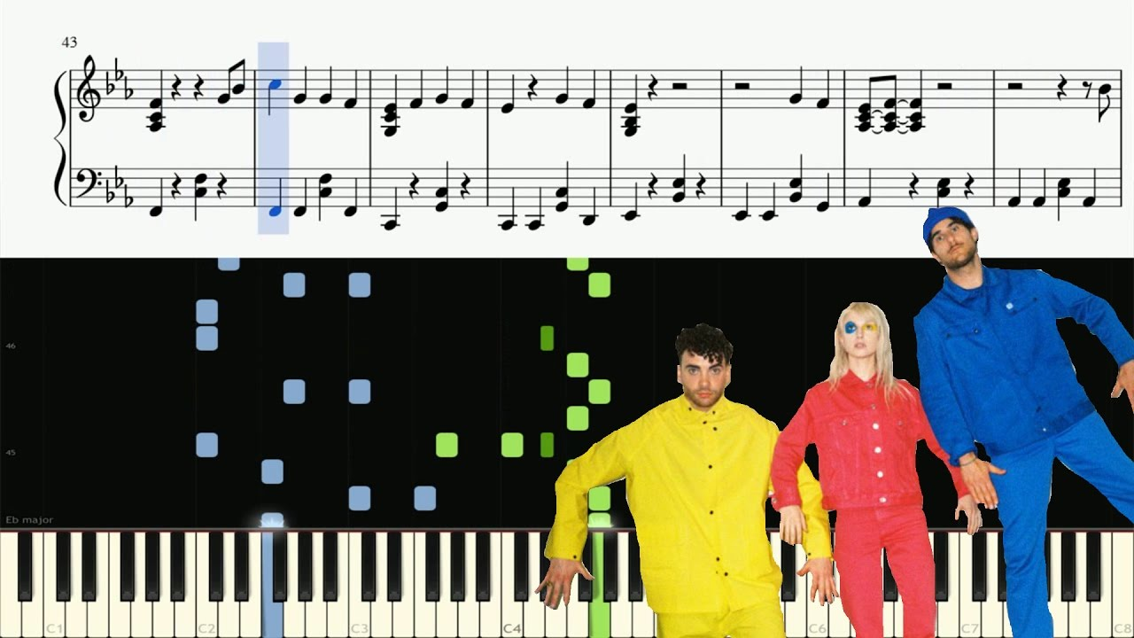 paramore hard times piano tutorial advanced sheets youtube