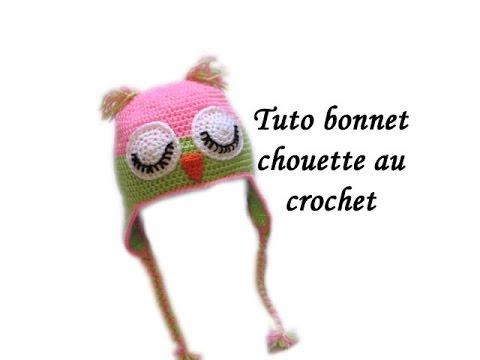 TUTO BONNET CHOUETTE AU CROCHET FACILE Owl crochet beanie easy - YouTube 8a8dd97954d
