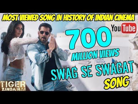 TIGER ZINDA HAI | SWAG SE SWAGAT SMASHES 700 MILLION VIEWS | MOST VIEWED SONG OF INDIAN CINEMA