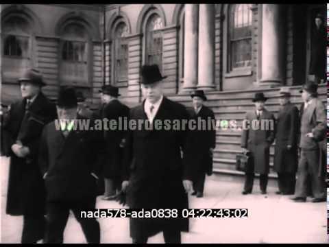 Hôtel de ville de New York, le maire Laguardia et George Gallup