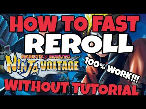 HOW TO FAST REROLL *ENG VERSION | #4 Naruto x Boruto Ninja Voltage Indonesia