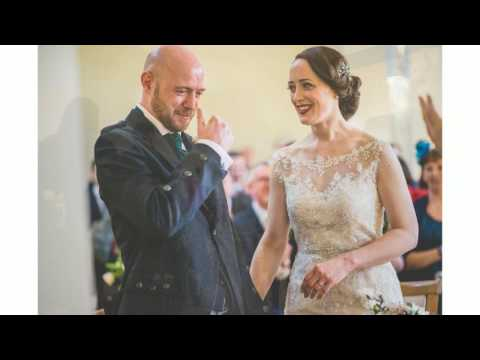 Kilts & Sci-Fi Themed Chic Rainy Spring Farnham Castle Weddi