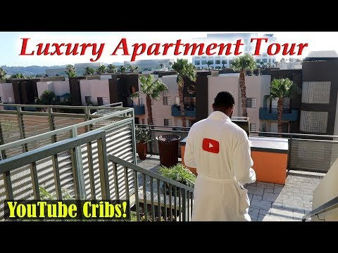 My New L.A. Luxury Apartment Tour! YouTube Cribs 2017