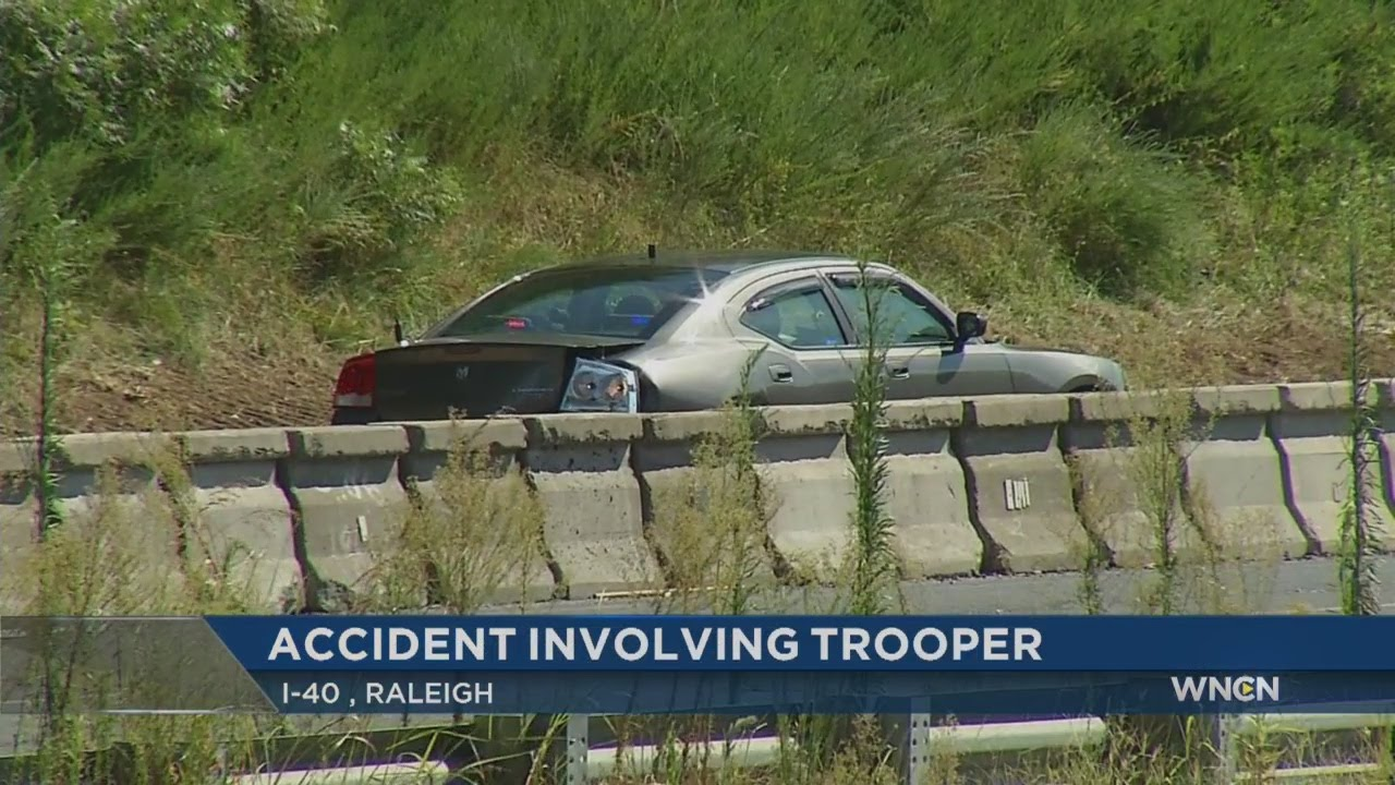 State trooper involved in I-40 accident in Raleigh - YouTube