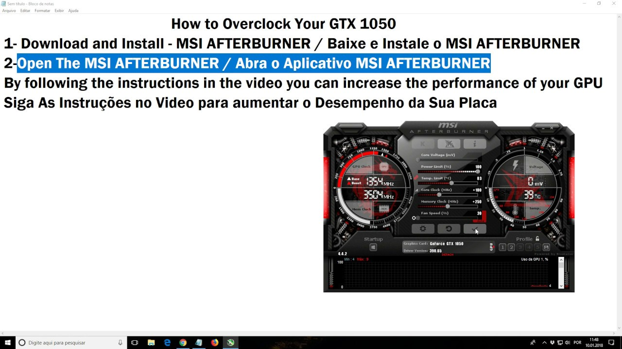 How to Overclock Your GTX 1050