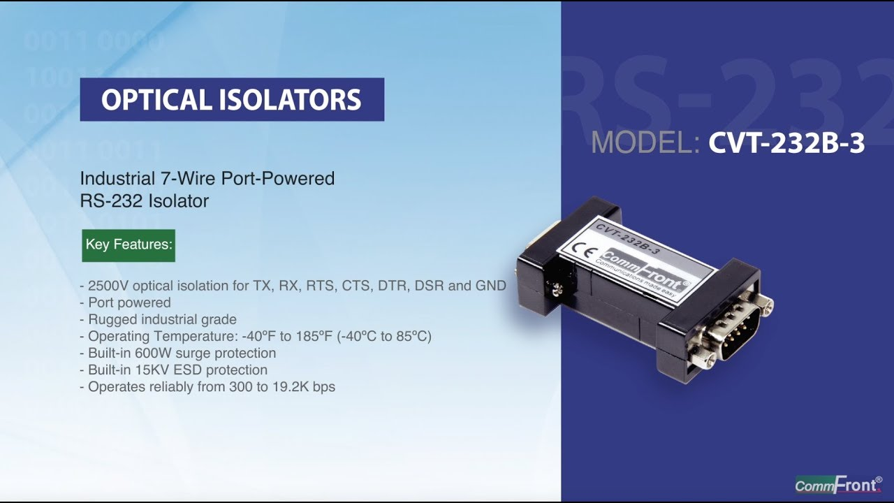 Opto Isolators - Protect your RS232 RS485 RS422 Serial Devices