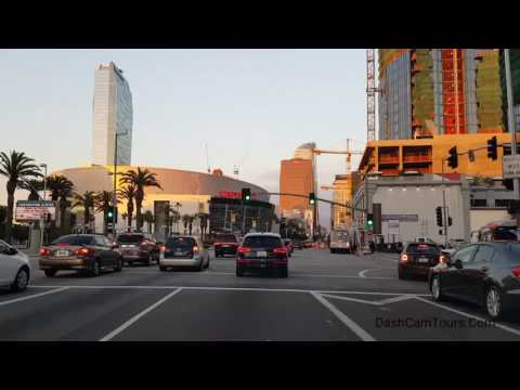 Los Angeles Driving Tour: Downtown LA During the Sunset, Disney Music Hall, Olympic Blvd, Koreatown