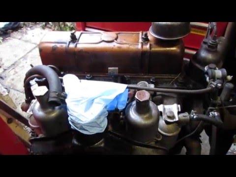 5. Triumph Herald 948 engine rebuild - Engine in the workshop