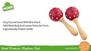 Wood Maracas, Medium, Red - NINO8PD-R