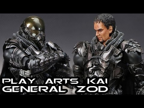Play Arts Kai Man of Steel GENERAL ZOD Figure Review