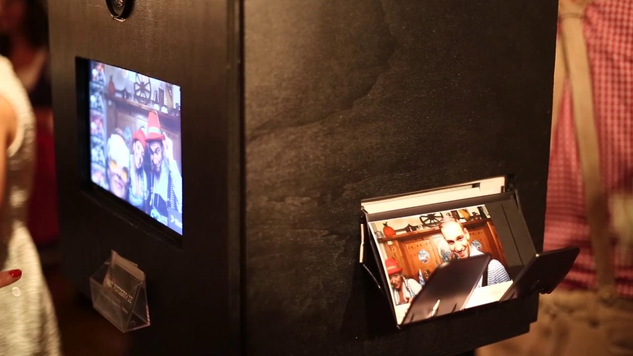 96d Fotografie Fotobox Mit Drucker Selfie Booth Photo Booth Youtube