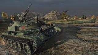WoT Type 59 (Milkys Skin) 2130 EXP in less than 4min !!! - Karelia