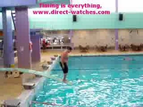 Crazy Swimming Pool Diving Accident