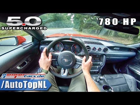 780HP Ford Mustang GT 5.0 BIG SUPERCHARGER POV Test Drive by AutoTopNL