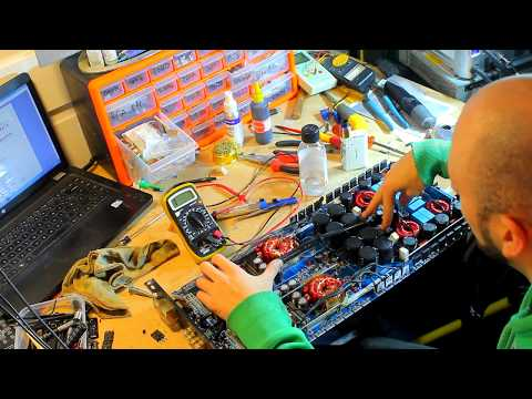 Repairing Atomic AT-5000.1D subwoofer amplifier