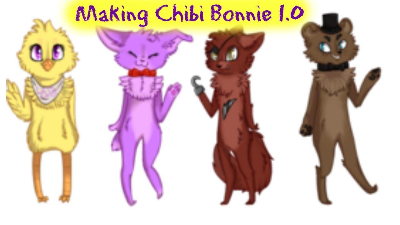 Bonnie The Bunny As A Chibi Read Desc Youtube