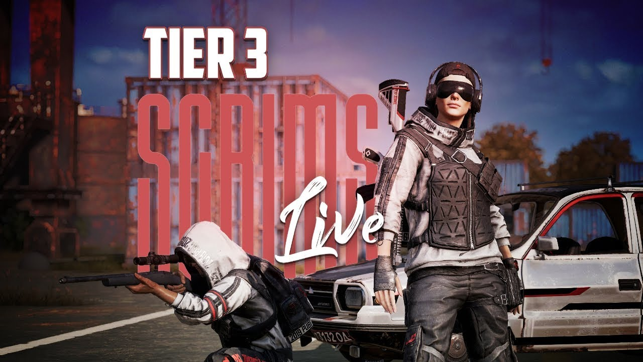TIER 3 SCRIMS LIVE   PMCL CUSTOM   PUBG MOBILE    LIVE GAME PLAY