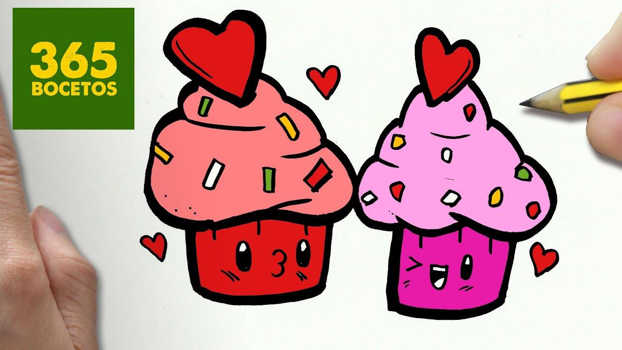 Como Dibujar Cupcakes Kawaii Paso A Paso Dibujos Kawaii Faciles