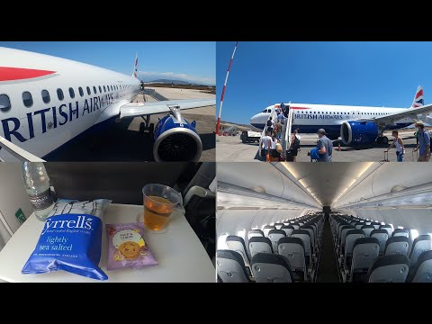 Nearly Empty British Airways A320neo From Chania To London: The Aircraft With The Two Economy Cabins