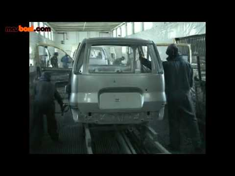 Painting Car with manual spray gun in PaintShop Automotive Factory