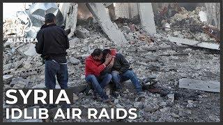 Syria: More than a dozen killed in Idlib air raids