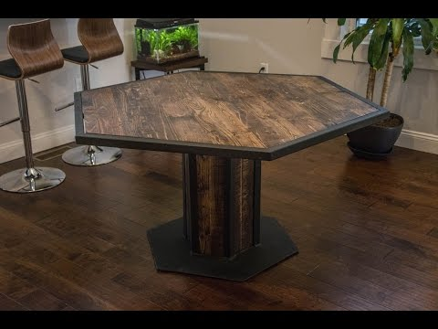 Industrial Style Hexagon Dining Table