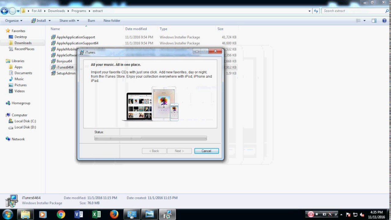 How to fixed iTunes error on windows